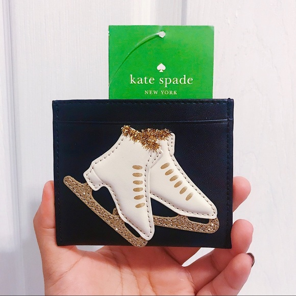 NWT ⛸ Kate Spade Ice Skating Cardholder